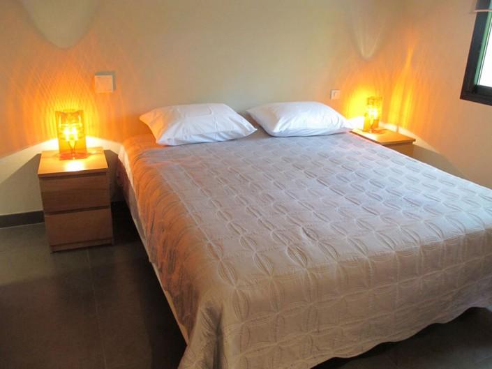 Chambre double de la villa de Pauline à Porto-Vecchio