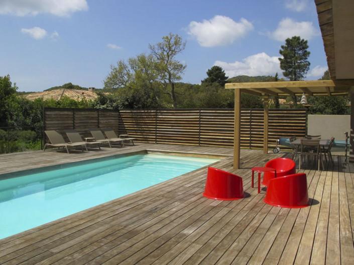 Piscine et Pool House de la Villa de Pauline